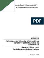 Paulo Helene - Evolução historica da utilização do concreto