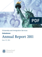 Ombudsman's Report on Citizenship and Immigration Services for 2011