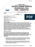 12-045 Water Sewer Permits Technician