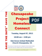 Chesapeake Project Homeless Connect Save the Date