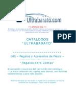 002 - Regalos y Accesorios de Fiesta - Regalos Para Damas - UT