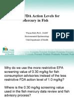 EPA vs FDA Action Levels