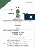 The West Bengal Panchayat (Amendment) Act, 2010