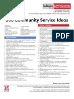 366 Community Service Ideas
