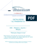 006 - Relojes y Joyeria - Relojes - Relojes Deportivos - UT