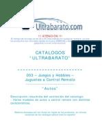 003 - Juguetes a Control Remoto - Autos - UT
