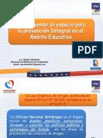 Ámbito Educativo del Plan Sembrando Valores para la Vida 2012
