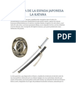 Historia de La Espada Japonesa La Katana