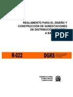 R-022 Reglamento Para El Diseno y Construccion de Subestacion