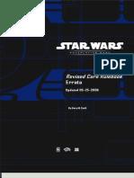 Star Wars RPG Book Errata 2006