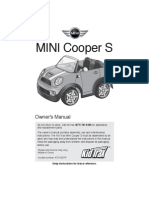 KT1052TR 12V Mini Cooper Owners Manual Web