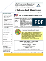Silver Foxes Newsletter - July 2012 from the Takoma Park Recreation Department