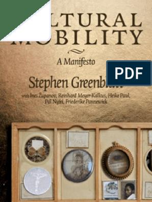 Greenblatt Stephen Cultural Mobility Manifesto Ancient