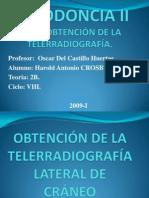 OBTENCIÓN DE LA TELERRADIOGRAFÍA LATERAL DE CRÁNEO.ppt