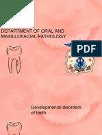 Developmental Disorders of Teeth