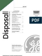 GE Garbage Disposall # GFC520F Manual