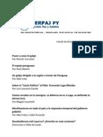 2do. Boletín Especial del Serpaj-Py