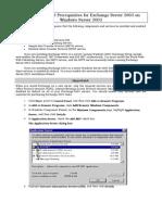 Configure Exchange Server 2003