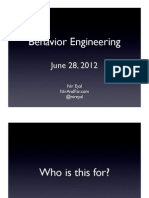 Behavior Engineering (HI Greenhouse)