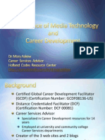 Convergence of Media Technology and Career Development