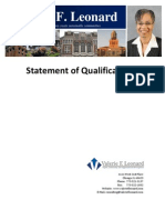 Statement of Qualifications 62012