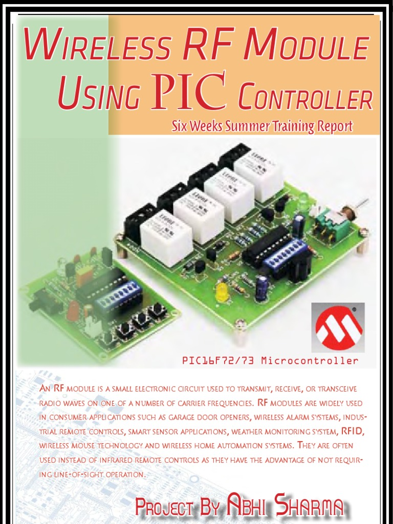 Wireless Radio Frequency Module Using PIC Microcontroller - Driver circuit for electromagnetic relay using microcontroller