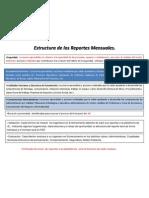 Estructura de Los Reportes Mensuales