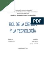 Ensayo Crítico Ciencia y Tecnología