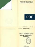 Mead, Margaret. Sexo y Temperamento en Sociedades Primitivas (VL)