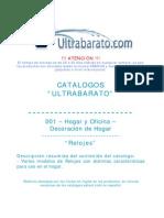 001 - Decoracion de Hogar - Relojes - UT