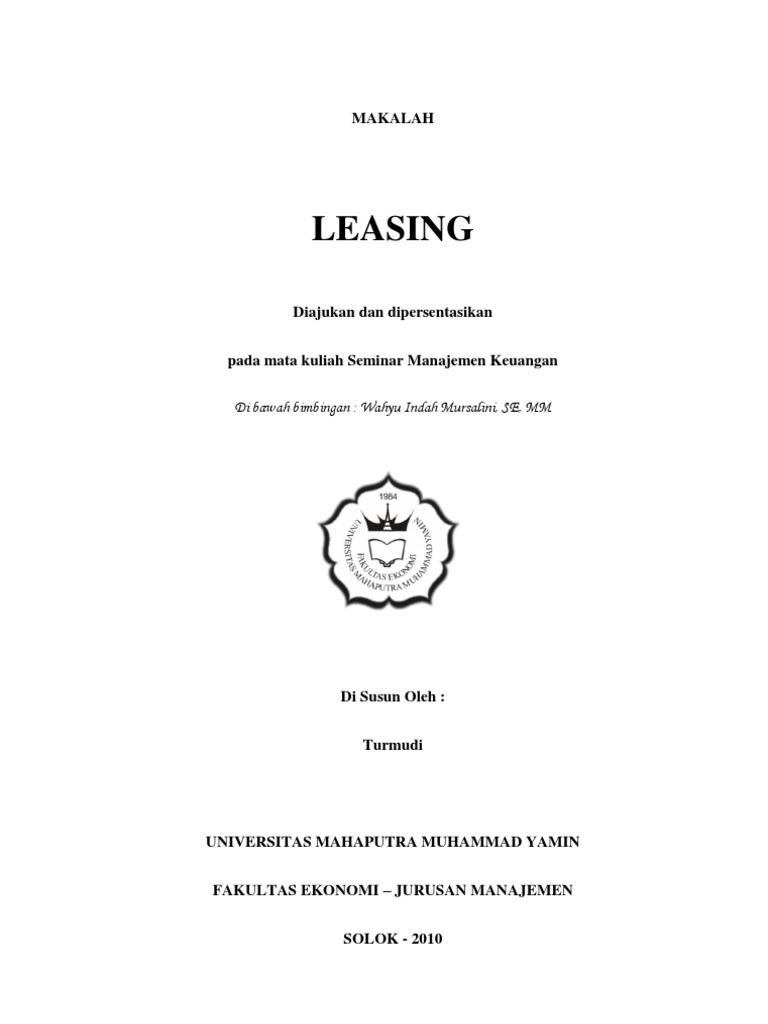 Makalah Leasing