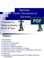 Wire Less Transmission of Electricity