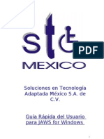 GUIA RAPIDA DE JAWS 5.0 EN ESPAÑOL