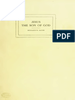 Jesus the Son of God- Three Essays and a Discussion. Benjamin Bacon 1911