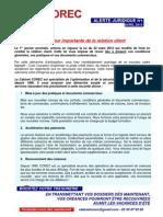 Alerte 1 - Loi Du 22-03-2012 Mise a Jour Des Documents Commerciaux