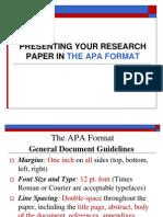Term Paper Format APA Stlye New as 2011