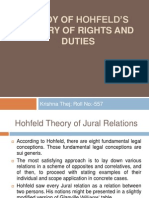 Study of Hohfeld's Theory of Rights and Duties
