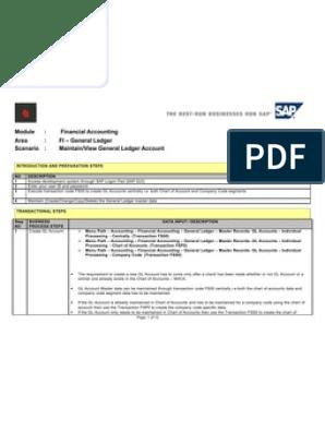 SAP FS00 Tutorial: General Ledger Master Data Maintenance