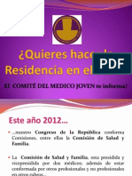 ¿Quieres hacer la Residencia en el Perú?