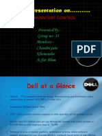 A Presentation on Dell Inventory Control