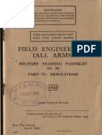 Field Engineering All Arms Pam 30 Part VI Demolitions 1945