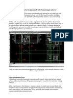 Tutorial Membuat Gambar Kerja Rumah Sederhana Dengan Autocad