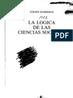 Habermas, Jurgen. La Logica de Las Ciencias Sociales(1982) 504 Pp