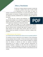 Mitos y Realidades Elecciones 2012 (CNE)