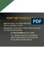Asap Methodology