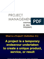Project Management Unit 1 Short