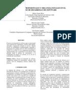 Competencias Profesinonales y organizacionales en el proceso de desarrollo de software