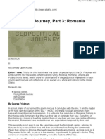 Geopolitical Journey, Part 3 Romania