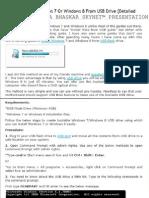 Create a Bootable Windows 7 on Usb Drive