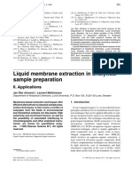 Liquid Membrane Extraction in Analytical Sample Preparation II. Applications